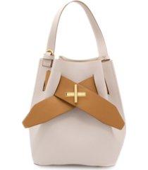 zac posen brigette belted leather bucket bag