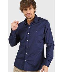 camisa azul santa barbara slim color