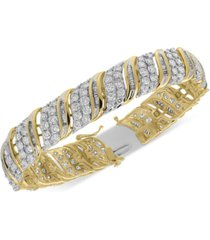 diamond bangle statement bracelet (10 ct. t.w.) in 10k gold