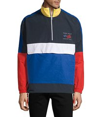 america colorblock cotton-blend jacket