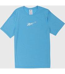 camiseta azul-blanco reebok techstyle activchill