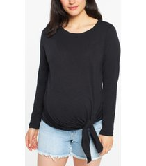 ripe maternity tie-front top