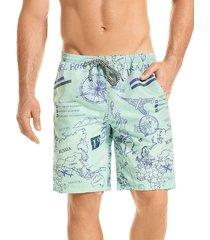 pantaloneta verano silueta larga hawai para hombre-azul aguamarina