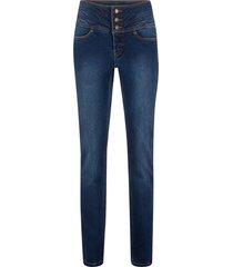 jeans modellanti effetto pancia piatta slim (blu) - john baner jeanswear