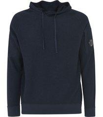 c.p. company drawstring hood knit hooded sweatshirt