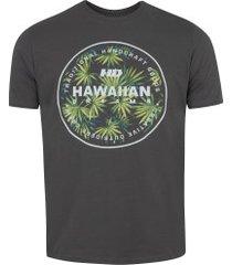 camiseta hd estampada spike flora 6203a - masculina - cinza escuro