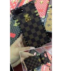 *brown-p aluminum eye trunk bag style case apple iphone6/6s iphone7 iphone8 plus