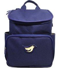mochila relicã¡rio para beb㪠sintã©tico modelo gabriela azul marinho - azul marinho - dafiti