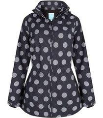 happyrainydays regenjas jacket winny globe black off white