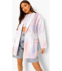 pastel oversized tie dye blazer, lilac