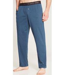 pantalón pijama elástico azul l