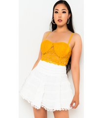 akira life of the party lace crop top