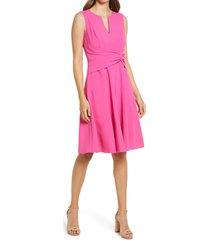 women's harper rose sleeveless fit & flare a-line dress, size 6 - pink