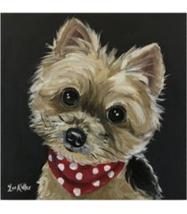 "hippie hound studios yorkie red bandana photo canvas art - 20"" x 25"""