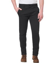 pantalón negro cat slim chino