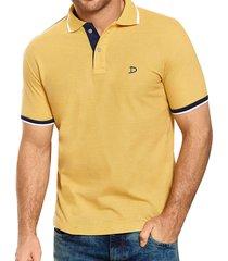 camiseta polo adames new amarillo para hombre croydon