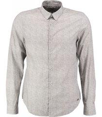 garcia grijs fine cotton slim fit overhemd valt kleiner