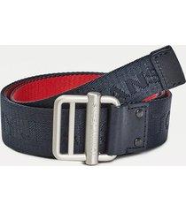 cinturón textil trenzado negro tommy hilfiger
