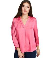 blusa manga ajustable rosado nicopoly