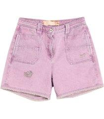 blumarine denim shorts