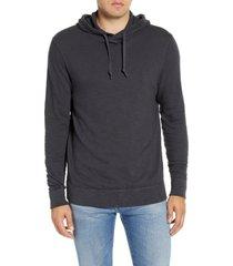 men's faherty slub cotton hoodie, size xx-large - grey