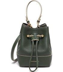 lana osette' top handle drawstring leather bucket bag