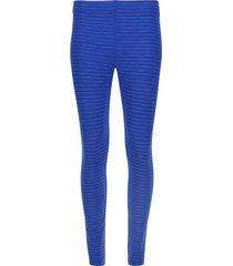 legging básico azul texturizado
