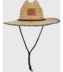 sombrero beige-negro quiksilver outsider