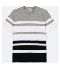 camiseta listrada manga curta | marfinno | cinza | m