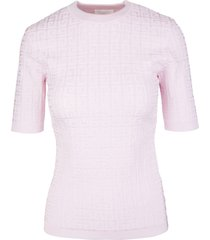 givenchy woman pink 4g knitted pullover