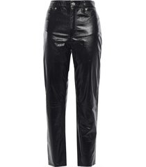 laker cropped glossed-leather tapered pants