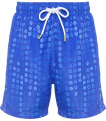 short masculino praia pois - azul