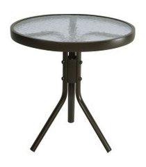 mesa de alumínio redonda galés marrom 50cm