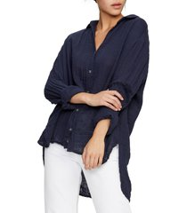 women's michael stars cotton button-up top