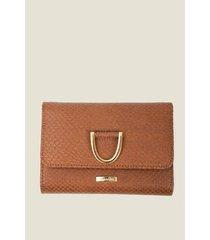 billetera para mujer cuero textura artesanal