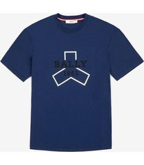 bally grip printed t-shirt blue l