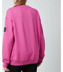 p.e nation women's heads up sweatshirt - pink dark pind - m