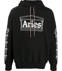 aries temple oversized hoodie - black