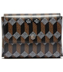 monogram double slot playing card case