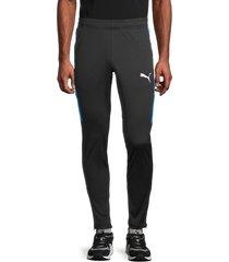 puma men's speed colorblock-panel track pants - black - size xxl