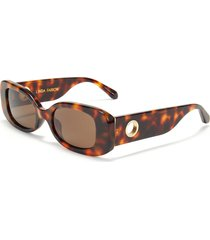 lola' tortoiseshell effect acetate frame rectangular sunglasses