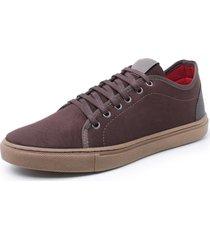 sapatenis sandalo levit marrom - cafã©/marrom - masculino - dafiti