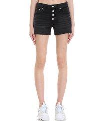 calvin klein jeans shorts in black denim