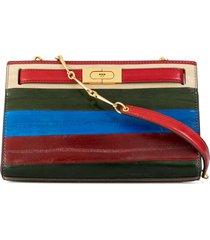 tory burch paneled shoulder bag - multicolour