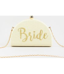women's bride snap clutch in ivory by francesca's - size: one size
