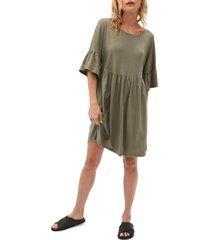 women's michael stars lola ruffle sleeve shift dress, size medium - green