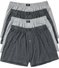 boxer largo in jersey (pacco da 4) (grigio) - bpc bonprix collection