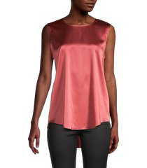 eileen fisher women's sleeveless stretch-silk top - bright sandstone - size xs