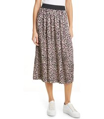 women's helene berman pleated skirt, size small - pink