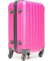 maleta viaje pequeña rosada color rosado, talla uni